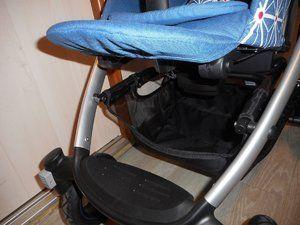 Le panier accessible et les roues avants et arrières