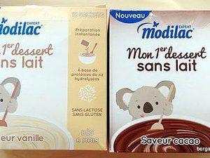 Repas Modilac Mon 1er dessert sans lait