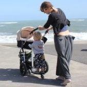Unirider - one parent, one child, one wheel.